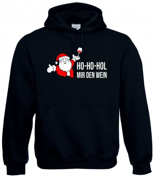 "Hoodie ""Ho-Ho-Hol mir den Wein"""