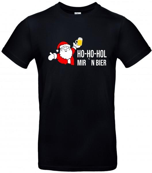 "T-Shirt ""Ho-Hol Hol mir 'n Bier"