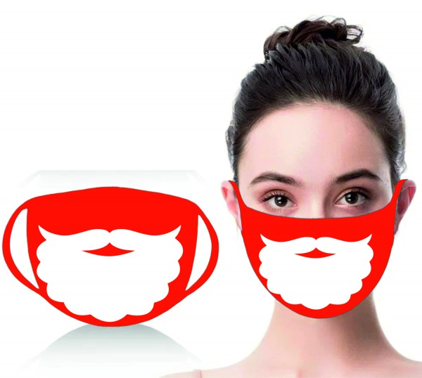 Mund-Nasen-Maske Weihnachtsmann