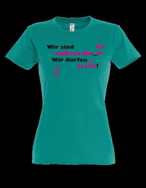 """T-Shirt """"Wir sind nicht von hier"""""""