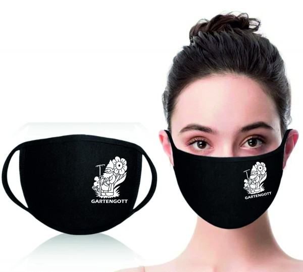 Mund-Nasen-Maske Gartengott