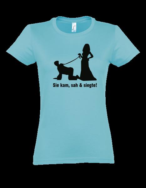 """T-Shirt """"Sie kam, sah & siegte"""""""