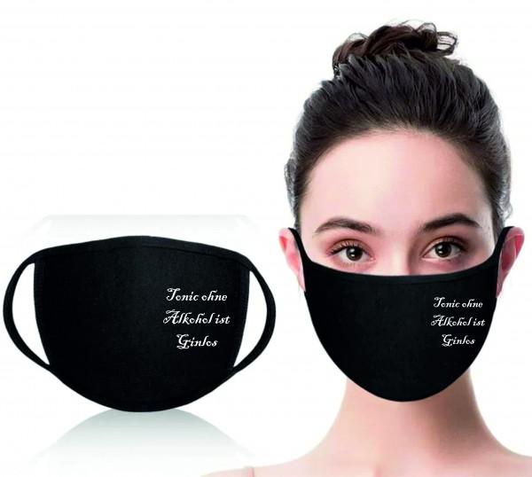Mund-Nasen-Maske Tonic ohne Alkohol ist Ginlos