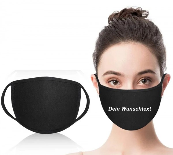 Mund-Nasen-Maske mit eigenem Aufdruck